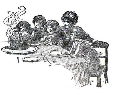 children at table