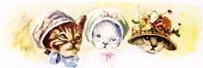 Kittens in bonnets