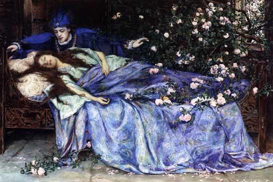 Sleeping Beauty by Henry Meynell Rheam