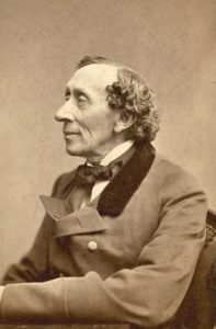 Picture of Hans Christian Andersen, taken by Thora Hallager (1821-1884) [Public domain], via Wikimedia Commons
