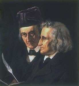 Painting of the Brothers Grimm