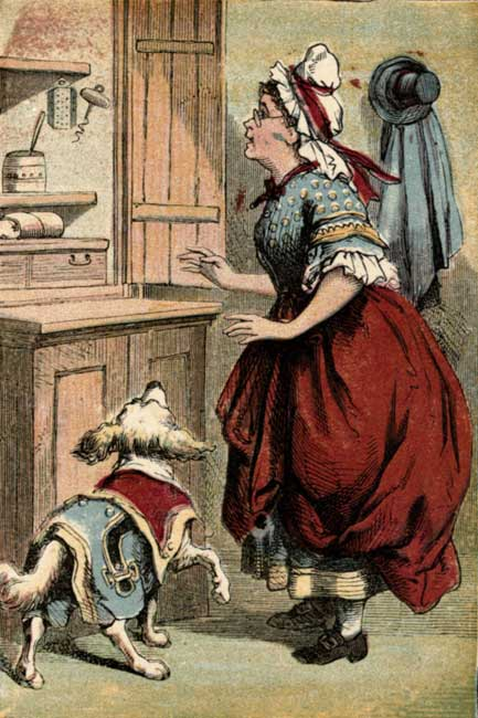 Old Mother Hubbard finds the cupboard is bare