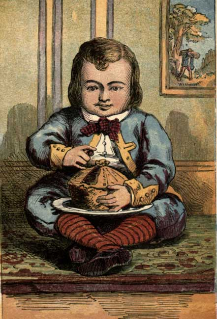 Little Jack Horner eating his pie
