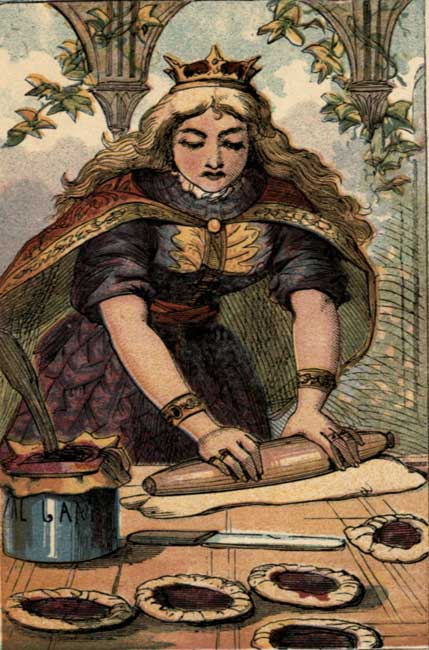The Queen of Hearts - making pies