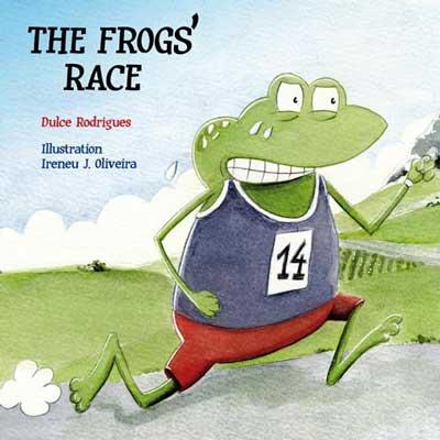 Frog running, sweating