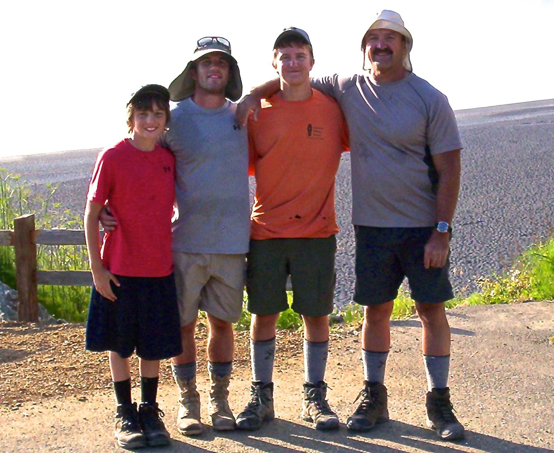 Rodney Page and his three sons