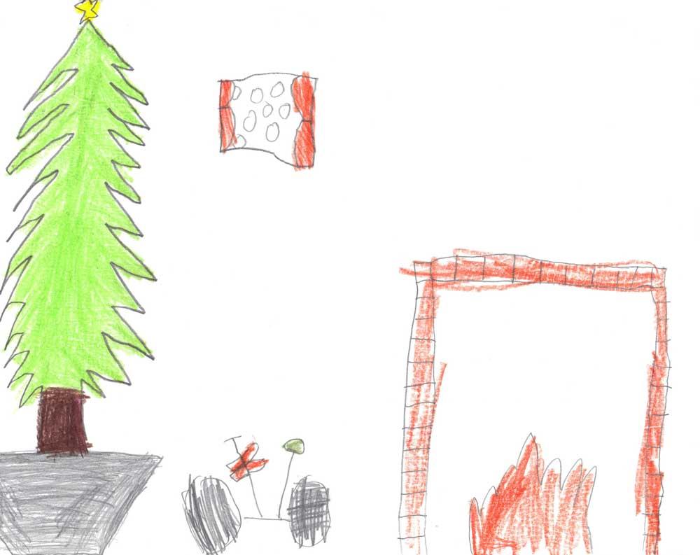 Christmas tree and bike