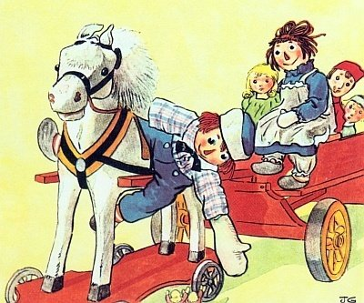 Raggedy Andy and the wooden horse