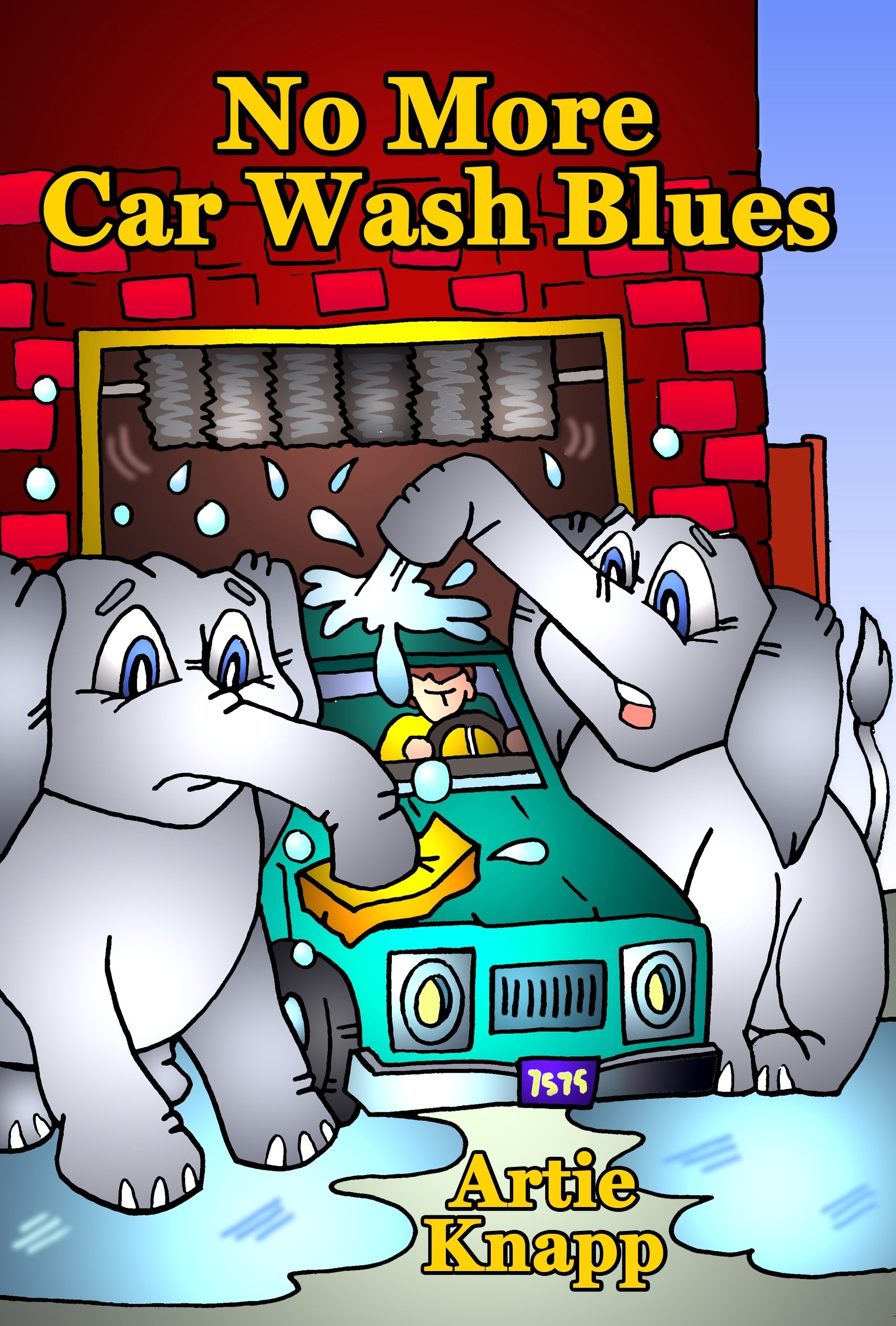 Elephants car washing