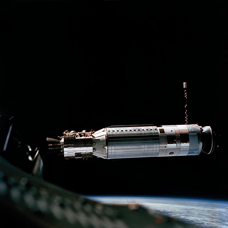 Agena module as seen from Gemini 8