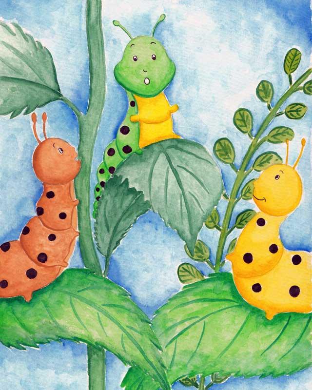 Caterpillars talking