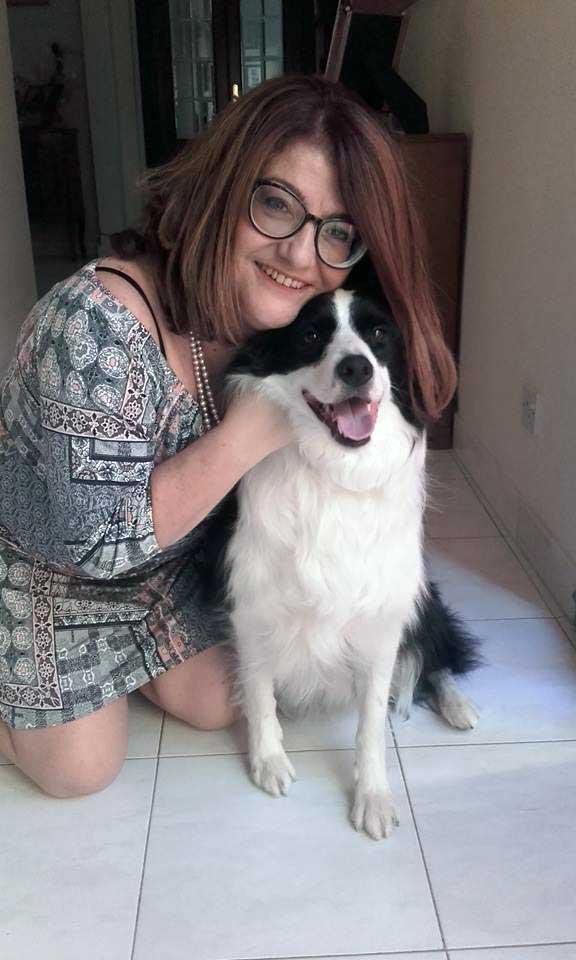 Rita Antoinette Borg with her dog