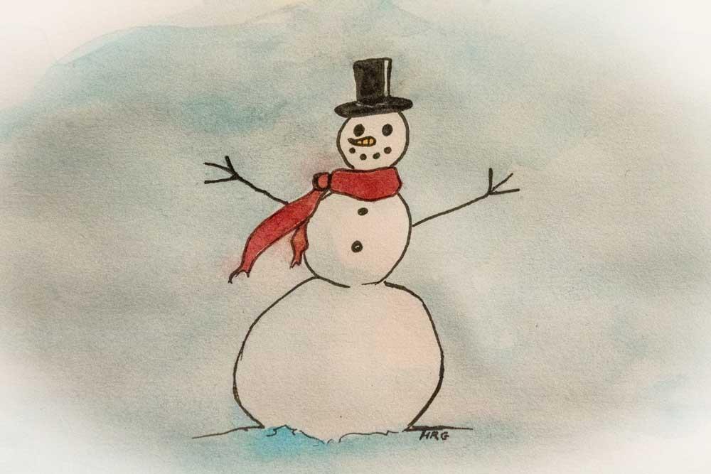 Snowman - Illustration by Hannah Gruber
