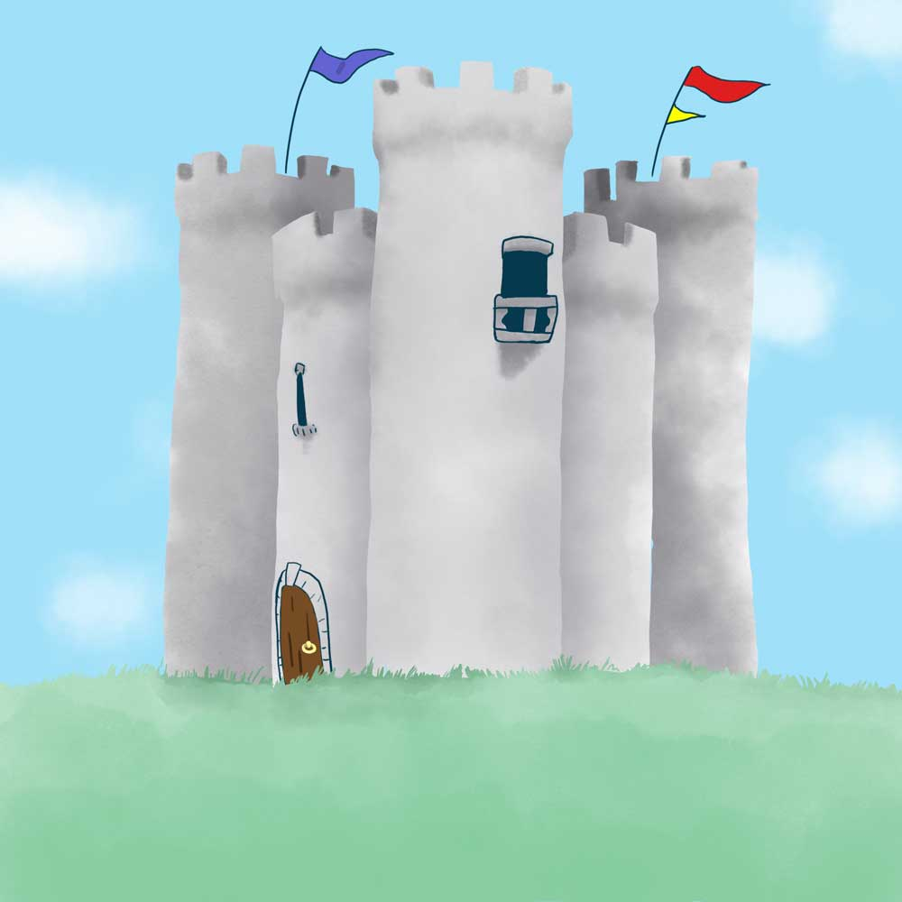 Castle from The Fisherman and His Wife, illustrated by Matt Moriarty