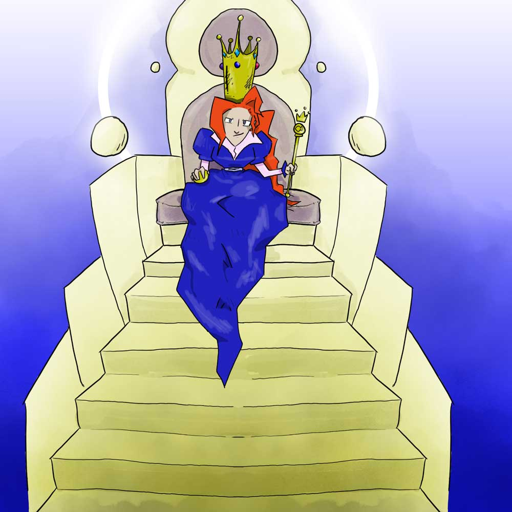 Emperor wife from The FIsherman and his Wife, illustrated by Matt Moriarty