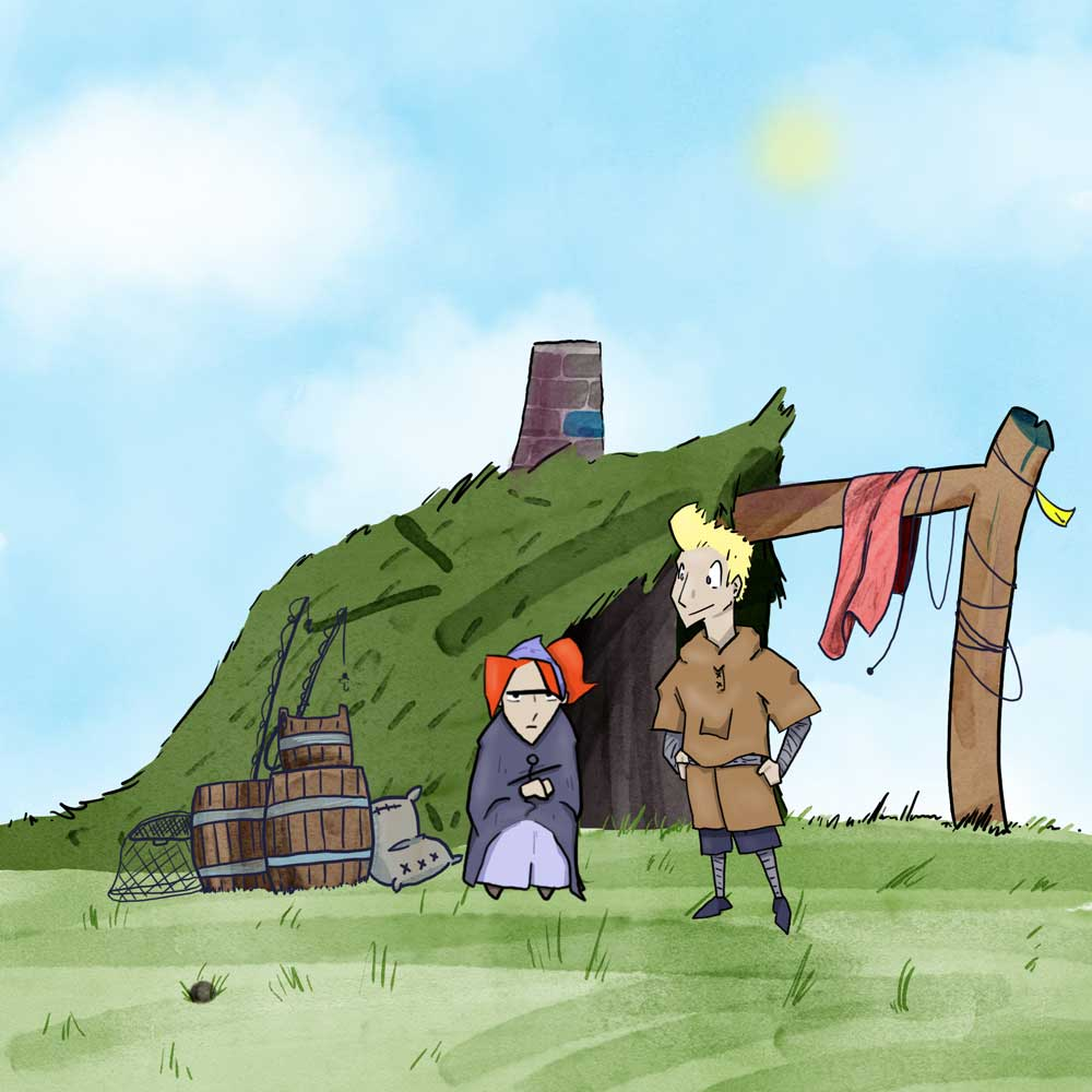 Back in a hovel, from The Fisherman and his Wife, illustrated by Matt Moriarty