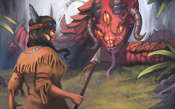 Takala faces off with the giant lake serpent