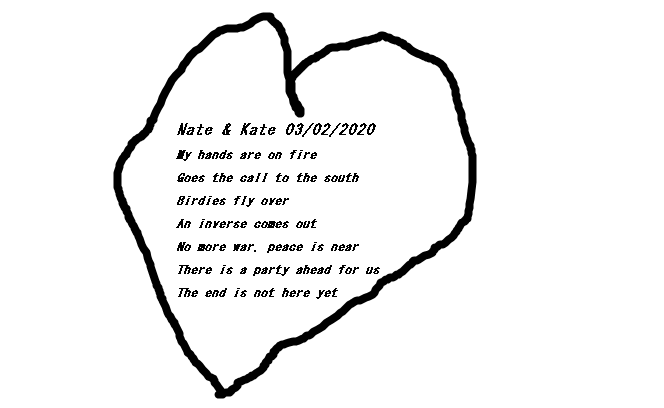 Heart with poem inside