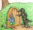 Squirrel and Crow by Samuel Batley